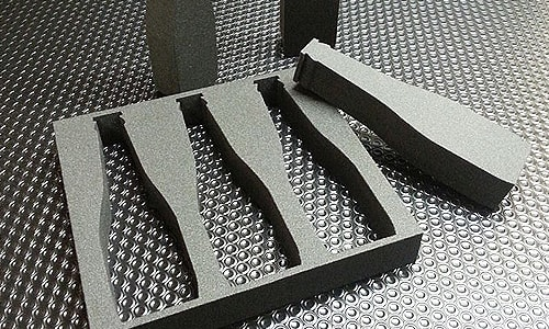 mousse polyethylene reticulee decoupe plv